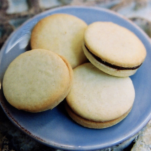 Olga - chocolate mint ganache sandwiched between two sugar cookies