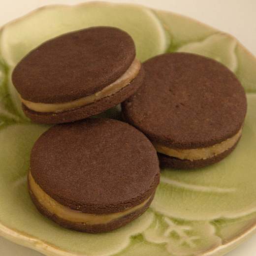 Cecilia - mocha cream sandwiched between two chocolate wafers