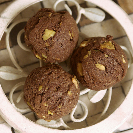 Danielle - spiced chocolate cookie with chopped pistachios